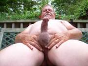 Outside cock play