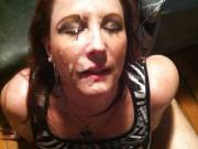 Huge load after sucking a nice, fat black cock