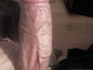 My big veiny cock. Don't you want to get on your knees and worship this great cock?