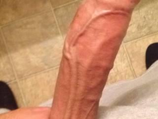 Big veiny uncut cock