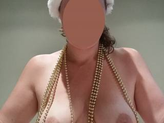 another of my ' booby bling' pics, I'm not sure my tits still look as good before our bub, but hubby tells me they are even better and he adores my perky nips, what do you think ?