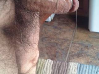 Standing in my front doorway, my engorged throbbing cock dripping precum for the neighbors to see.