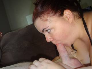 sucking my cock... all is right with the world