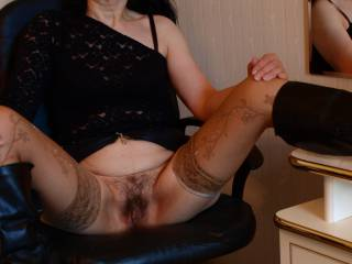 Spreading my legs for you so u can view my pussy better or u want to lick it??