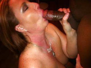 Lovely, fat, black cock for me to suck. Heaven!