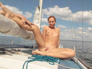 the very first sexy shot on boat ... this month ;)