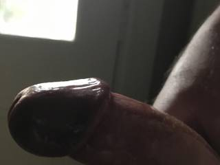 Anyone like this close up of my hard cock?  Who wants it in their mouth? In your pussy?