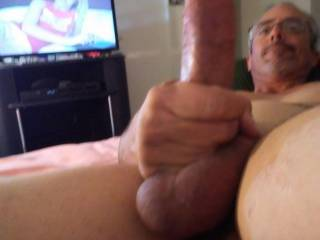 Full extention and dripping pre-cum!!!!