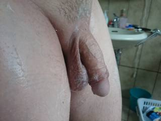 Freshly shaven and still soapy