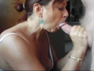 Amateur Video - Candi Annie milks Al's cock and gets a mouth full of man juice which she swallows every drop!